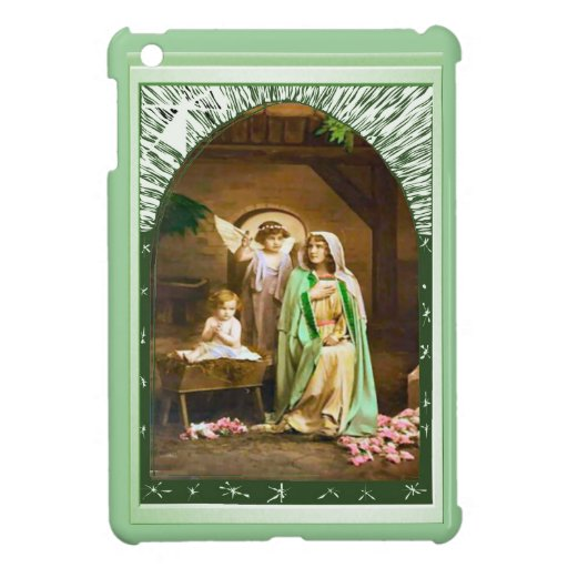 Mary, an angel and the child Jesus 1 iPad Mini Cases