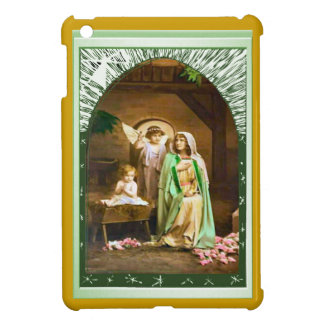Mary, an angel and the child Jesus iPad Mini Cases