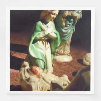 Mary and Baby Jesus Paper Napkin
