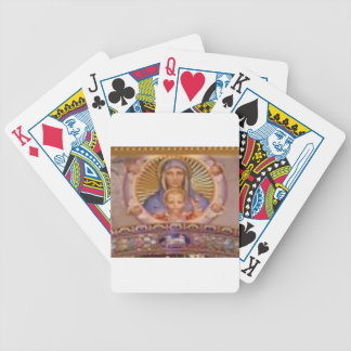 mary and child art bicycle playing cards