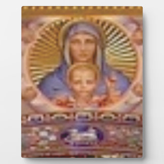 mary and child art plaque