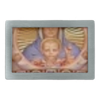 mary and child art rectangular belt buckle