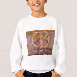 mary and child art sweatshirt
