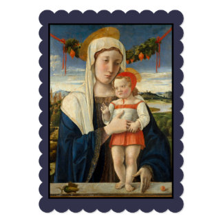 Mary and Child Under Garland Card