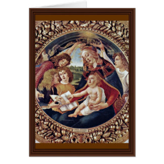 Mary And Christ Child And Five Angels Tondo Card