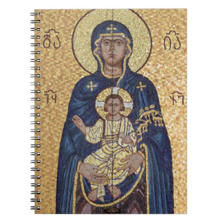 Mary And Jesus Mosaic Notebook