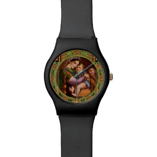 Mary And Jesus With Holly Watch