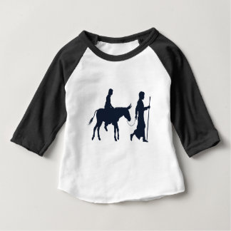 Mary and Joseph Christian Illustration Silhouettes Baby T-Shirt