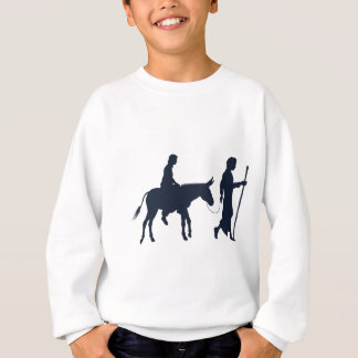 Mary and Joseph Christian Illustration Silhouettes Sweatshirt