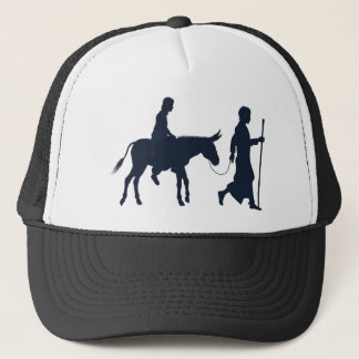 Mary and Joseph Christian Illustration Silhouettes Trucker Hat