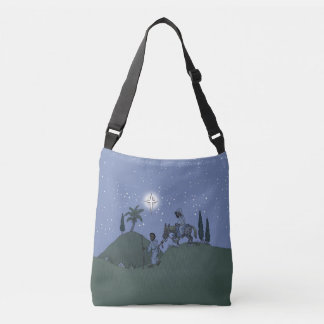 Mary and Joseph, Christmas design. Crossbody Bag