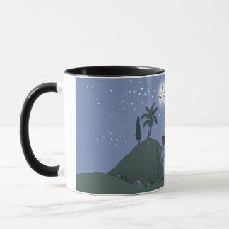 Mary and Joseph, Christmas design, on a mug. Mug
