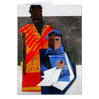 Mary and Joseph Cubist Christmas Card