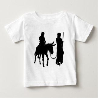 Mary and Joseph Nativity Silhouettes Baby T-Shirt