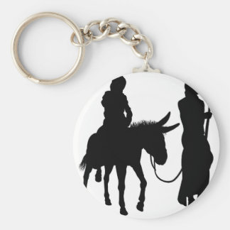Mary and Joseph Nativity Silhouettes Keychain