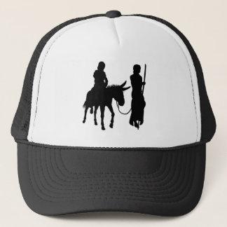 Mary and Joseph Nativity Silhouettes Trucker Hat