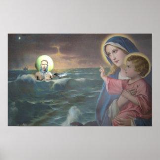 Mary and Yemaya Altar Poster