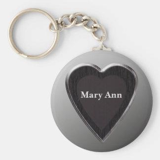 Mary Ann Heart Keychain by 369MyName