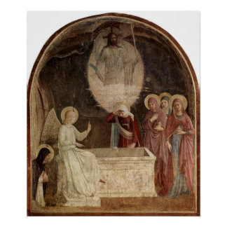 Mary at the Empty Tomb by Fra Angelico Poster