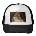 Mary Baby Jesus and Lamb Trucker Hat