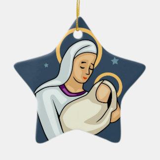 Mary Baby Jesus Christmas Ornament