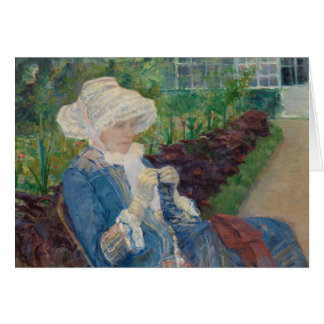 Mary Cassat- Lydia Crocheting in the Garden Card