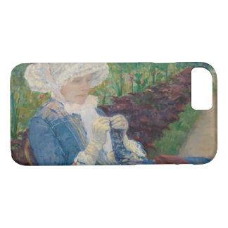 Mary Cassat- Lydia Crocheting in the Garden iPhone 8/7 Case