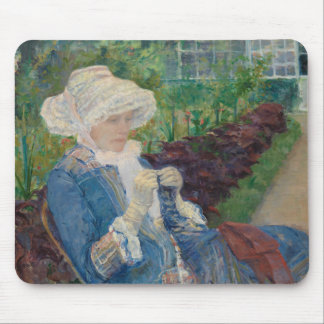 Mary Cassat- Lydia Crocheting in the Garden Mouse Pad