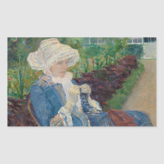 Mary Cassat- Lydia Crocheting in the Garden Sticker