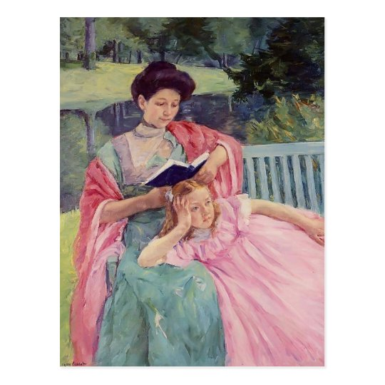 Mary Cassatt- Auguste Reading to Her Daughter Postcard