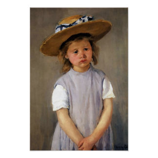 "Mary Cassatt ""Child in a Straw Hat"" Poster"