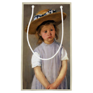 "Mary Cassatt ""Child in a Straw Hat"" Small Gift Bag"