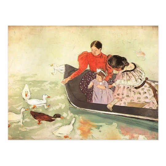 Mary Cassatt- Feeding the Ducks Postcard