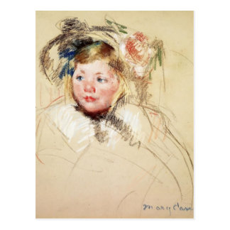 Mary Cassatt-Head of Sara in a Bonnet Looking Left Post Cards