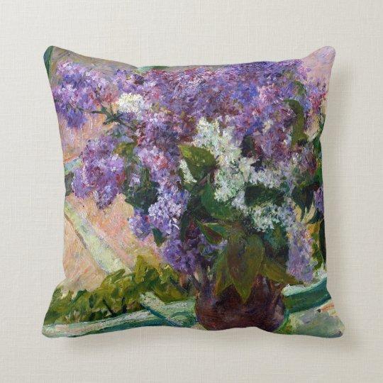Mary Cassatt Lilacs in a Window Throw Pillow