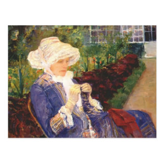 Mary Cassatt- Lydia faisant du crochet dans le jar Cartes Postales
