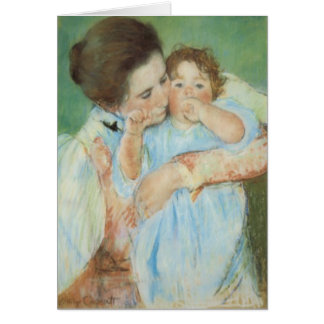 Mary Cassatt Mother and Child Mother's Day Card