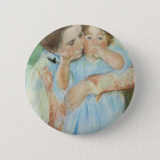 Mary Cassatt Mother and Child Mother's Day Card 2 Inch Round Button