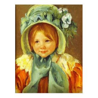 Mary Cassatt- Sarah in a Green Bonnet Post Card