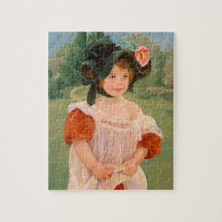 """Mary Cassatt """"Spring: Margot Standing in a Garden"""" Jigsaw Puzzle"""