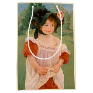 "Mary Cassatt ""Spring: Margot Standing in a Garden"" Medium Gift Bag"