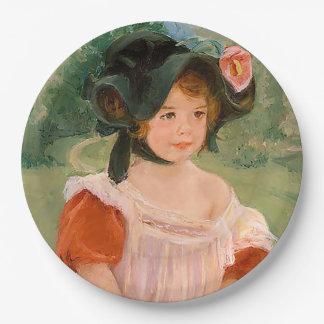 """Mary Cassatt """"Spring: Margot Standing in a Garden"""" Paper Plate"""