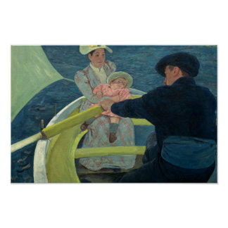 Mary Cassatt - The Boating Party Poster
