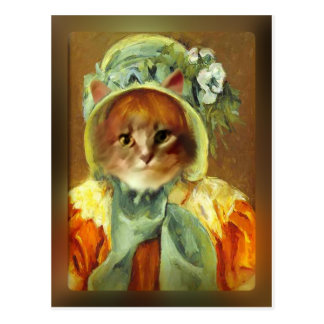 Mary Cassatt's Cat in Bonnet Postcard