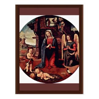 Mary Christ Child St. John The Baptist Kneeling An Postcard