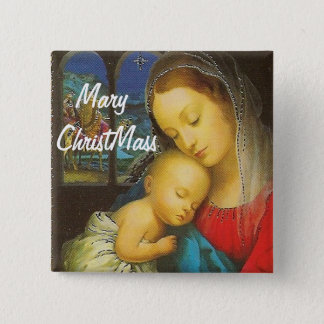 Mary ChristMass Button