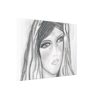 Mary Crying Canvas Print
