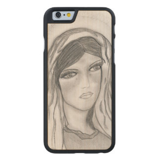 Mary Crying Carved Maple iPhone 6 Case