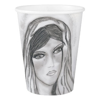 Mary Crying Paper Cup