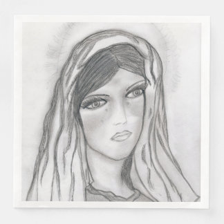 Mary Crying Paper Dinner Napkin